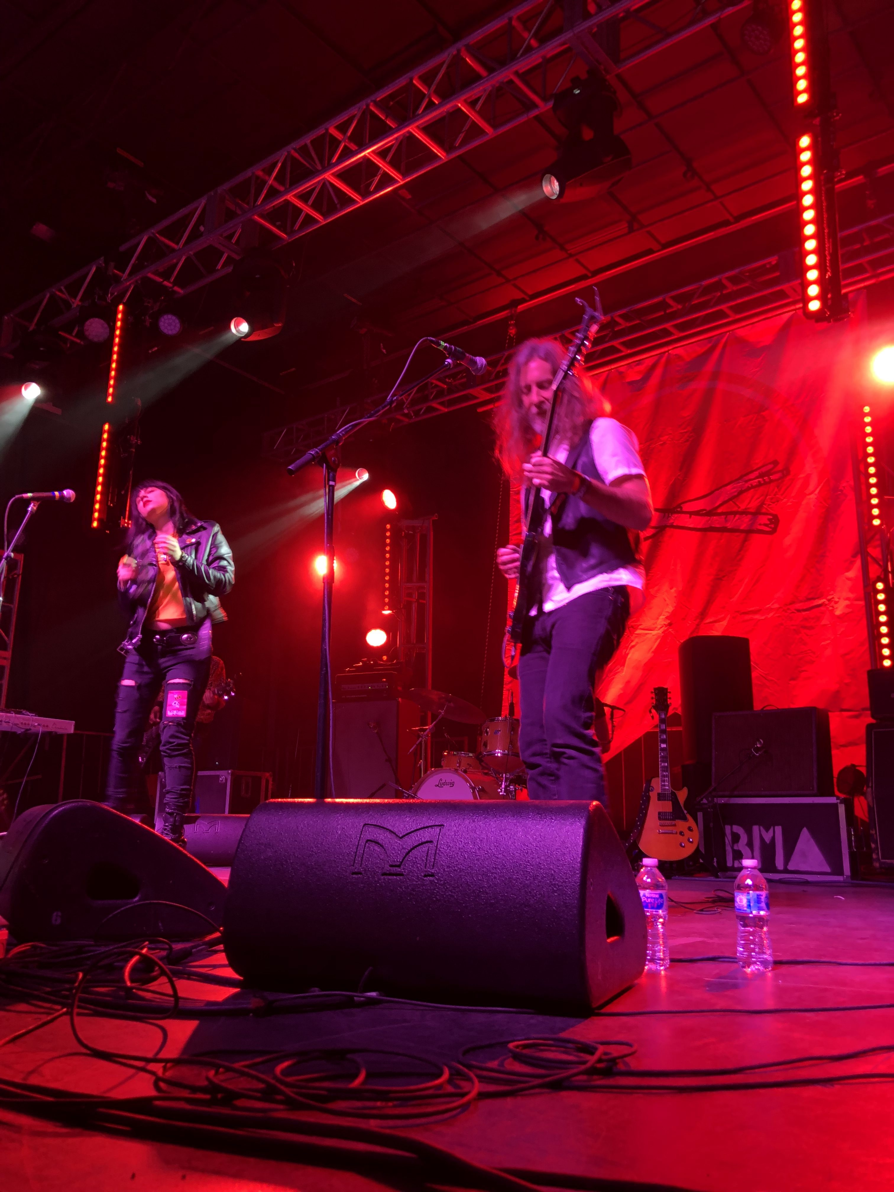 Black Mountain on the main stage at the 2019 Treefort Music Fest.