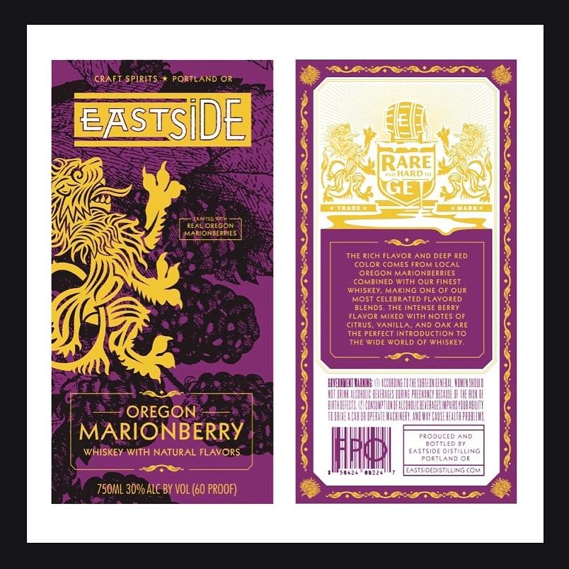Eastside Distilling Oregon Marionberry Whiskey Label