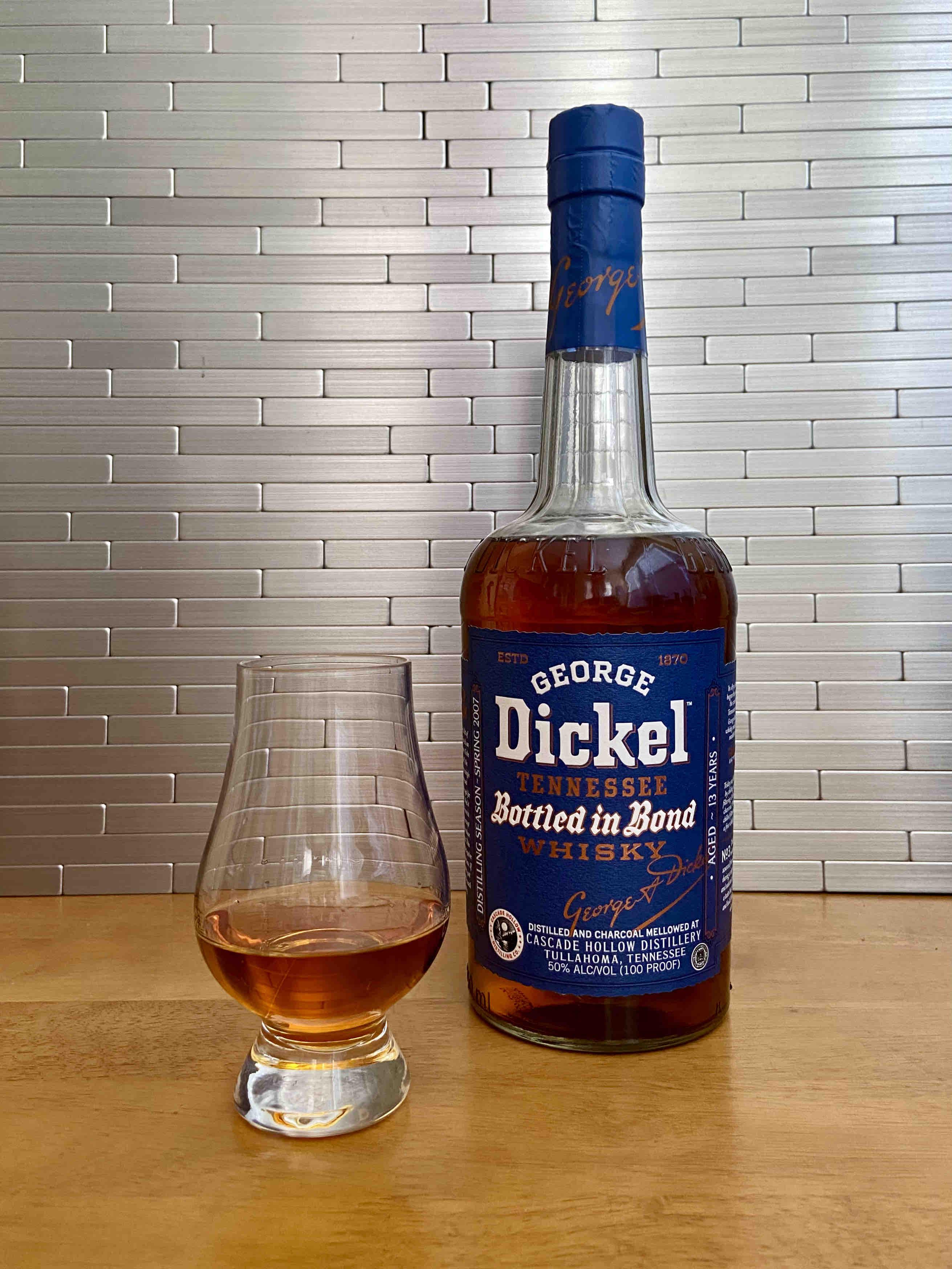George Dickel Bottled in Bond Distilling Season Spring 2007
