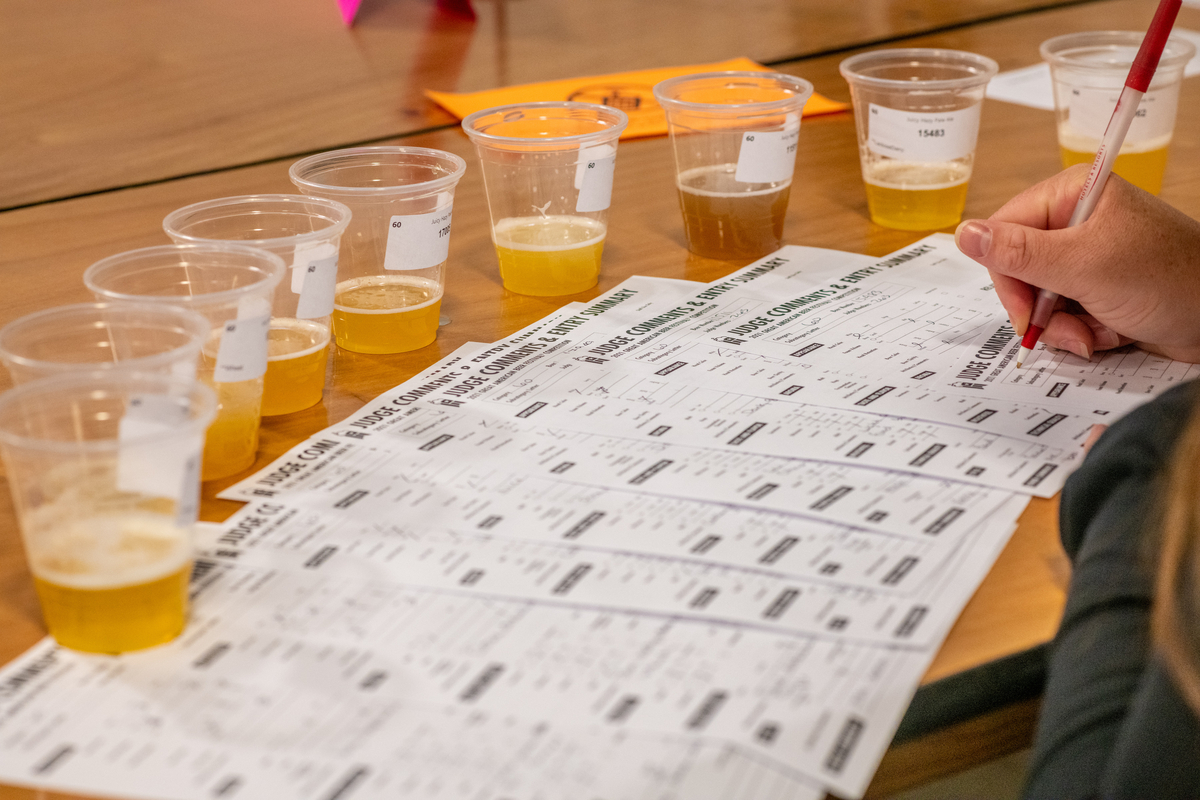 Judging at the 2021 Great American Beer Festival. Photo © Brewers Association