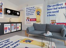 Pabst Blue Ribbon is looking for ad space inside your home. (image courtesy of Pabst Blue Ribbon)