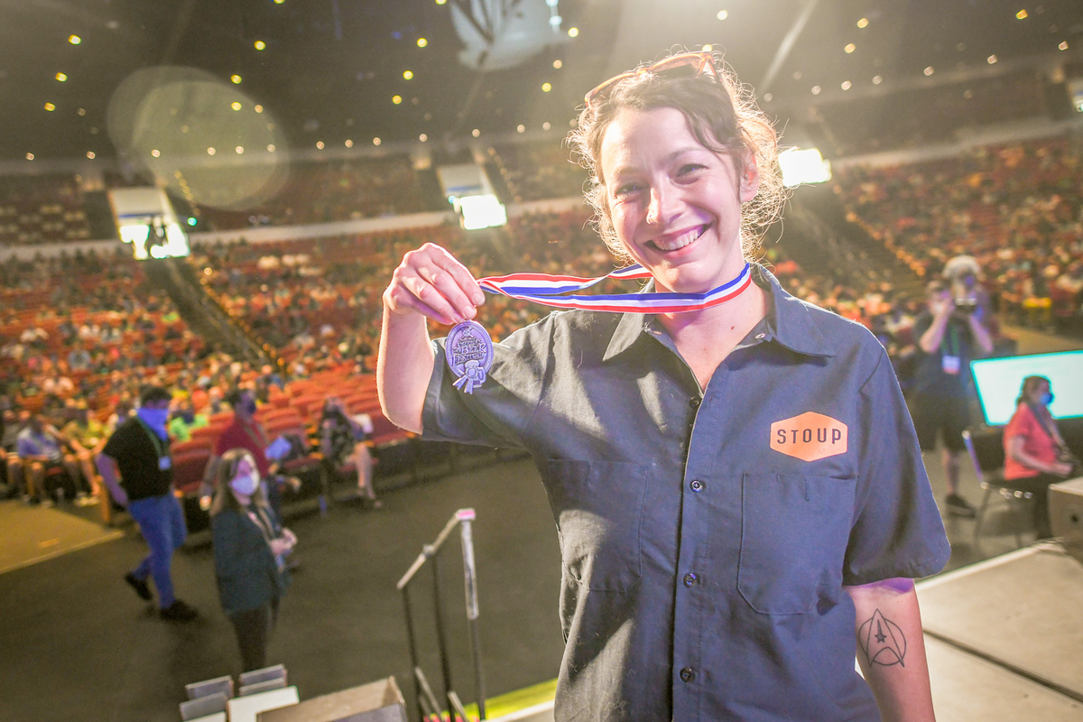 Stoup Brewing wins a medal at the 2021 Great American Beer Festival. Photo © Brewers Association