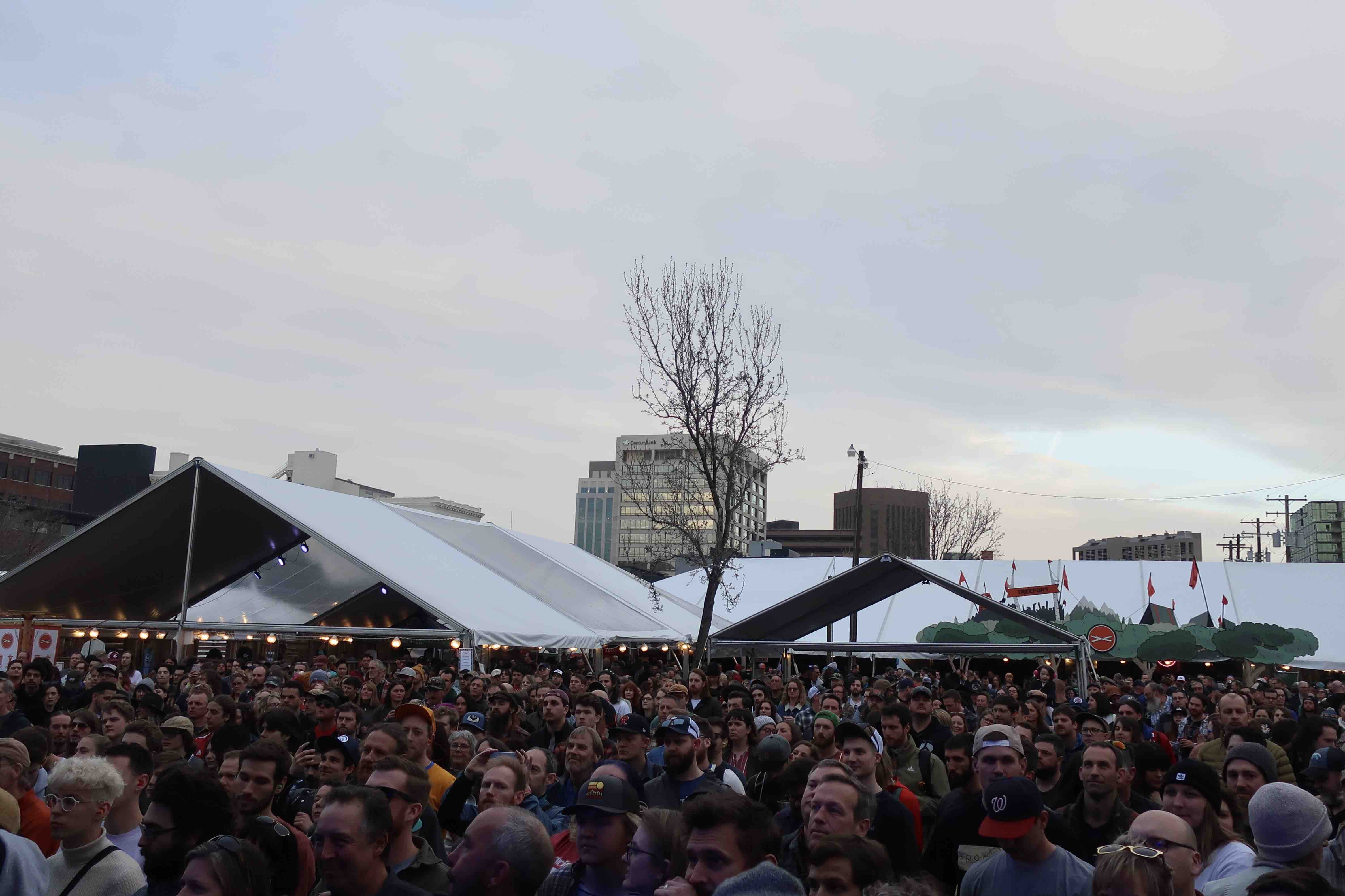 The crowd at the main stage at the 2019 Treefort Music Fest.