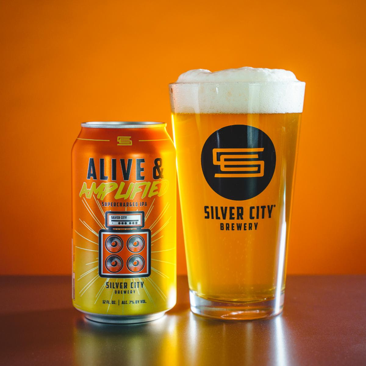 image of Alive & Amplified Supercharged IPA courtesy of Silver City Brewery