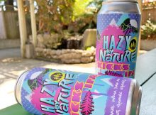 image of Hazy By Nature Kicks IPA courtesy of Eel River Brewing