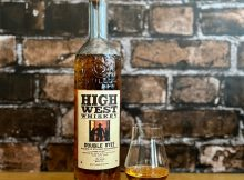 A dram of High West Whiskey Double Rye!