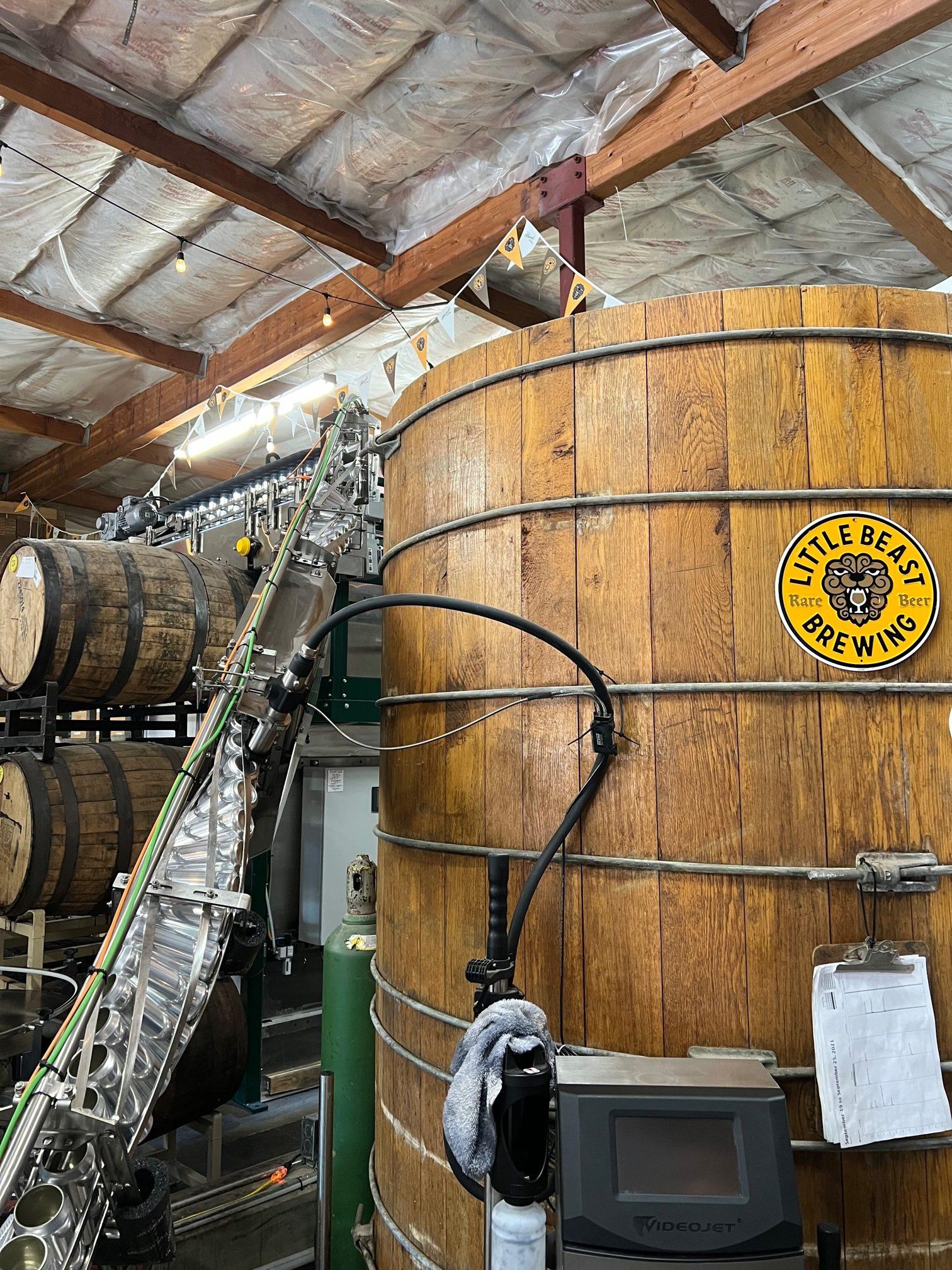 A foeder at Little Beast Brewing in Clackamas, Oregon.