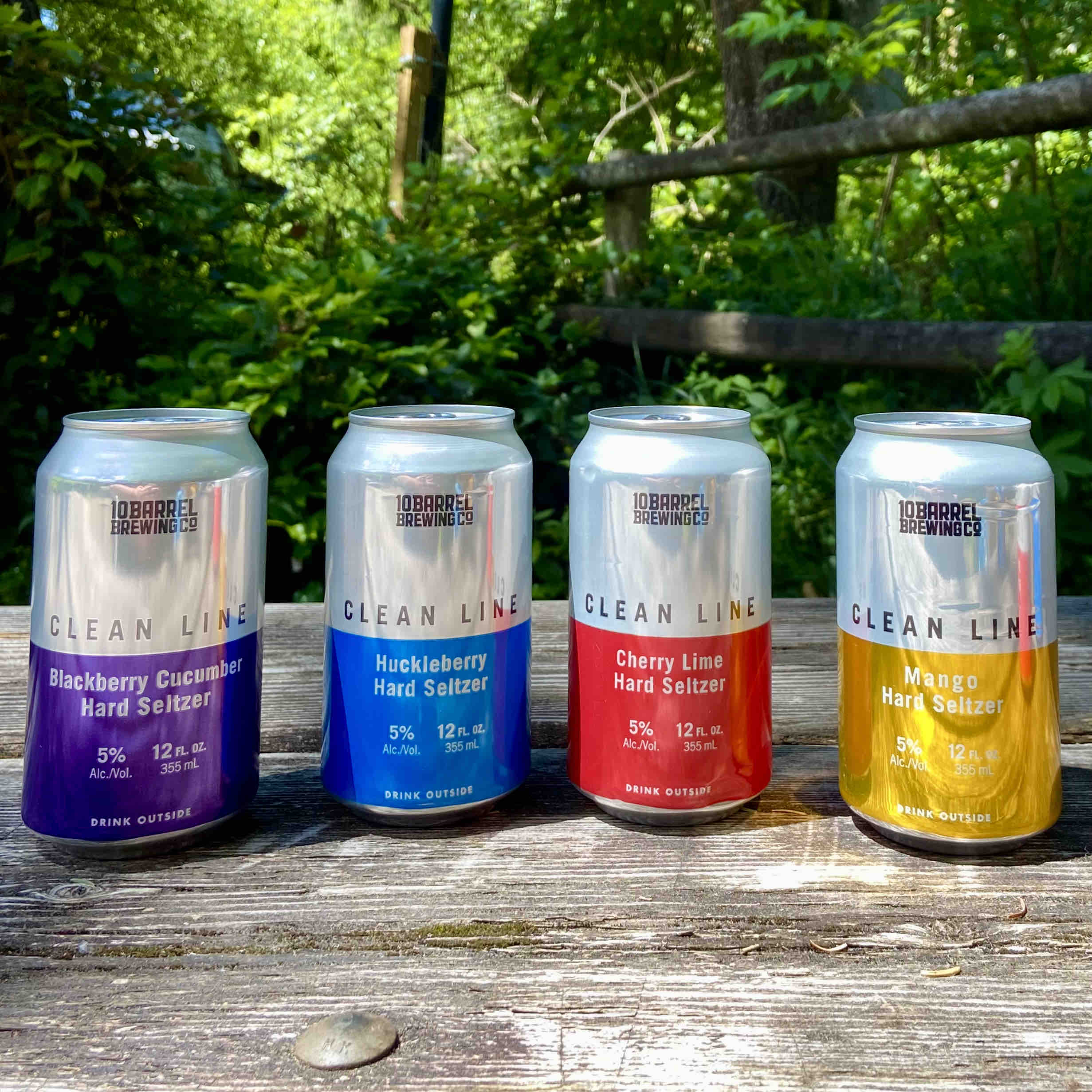 Clean Line Hard Seltzer Variety Pack from 10 Barrel Brewing Co. features four flavors.