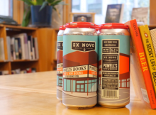 Powell's Books partners with Ex Novo Brewing on City of Books IPA. (image courtesy of Powell's Books)