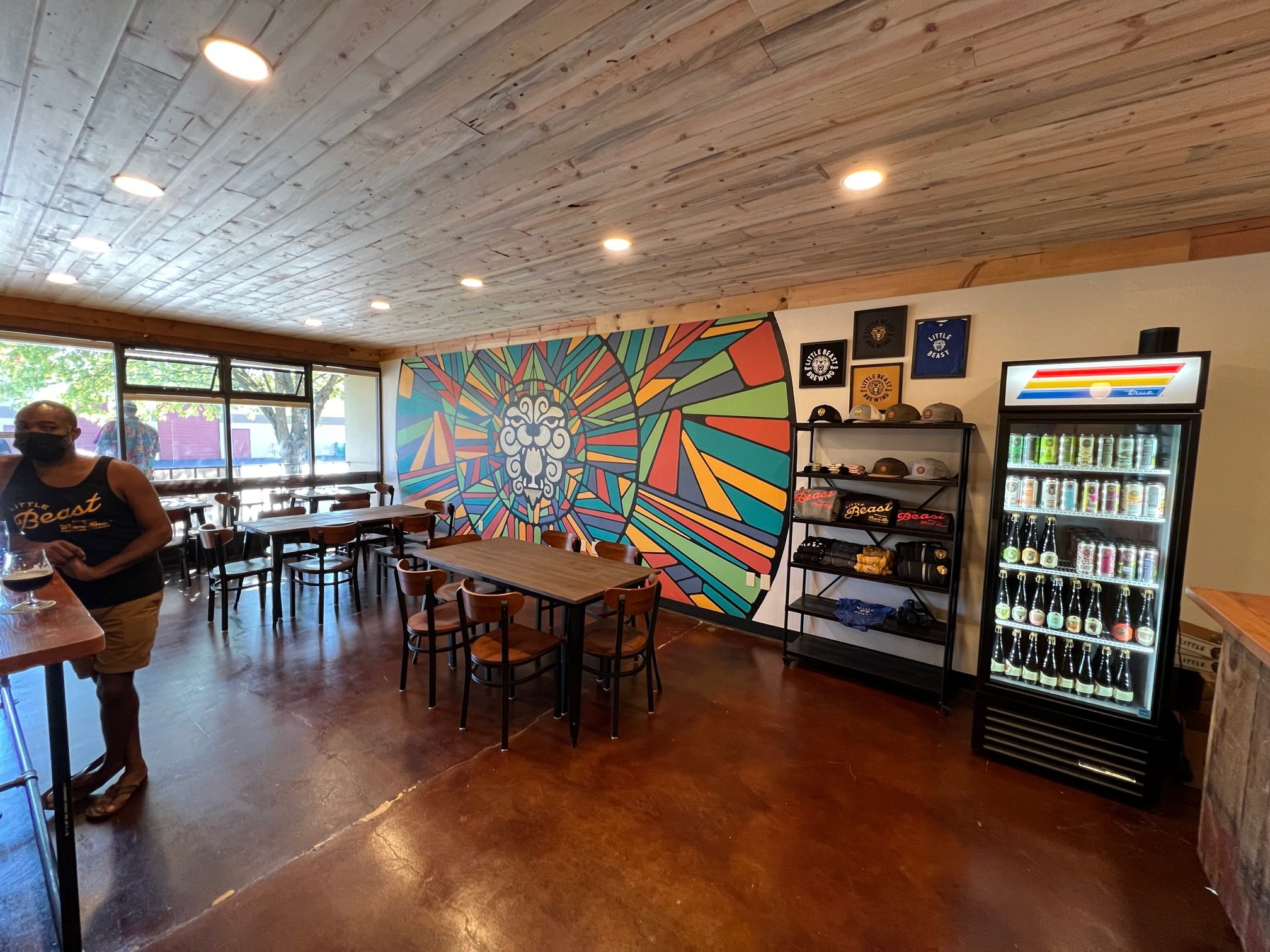 The indoor portions of the Little Beast Brewing Tasting Room in Clackamas.