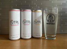 The lineup of NÜTRL Vodka Seltzer.