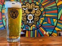 The mural at Little Beast Brewing in Clackamas, Oregon.