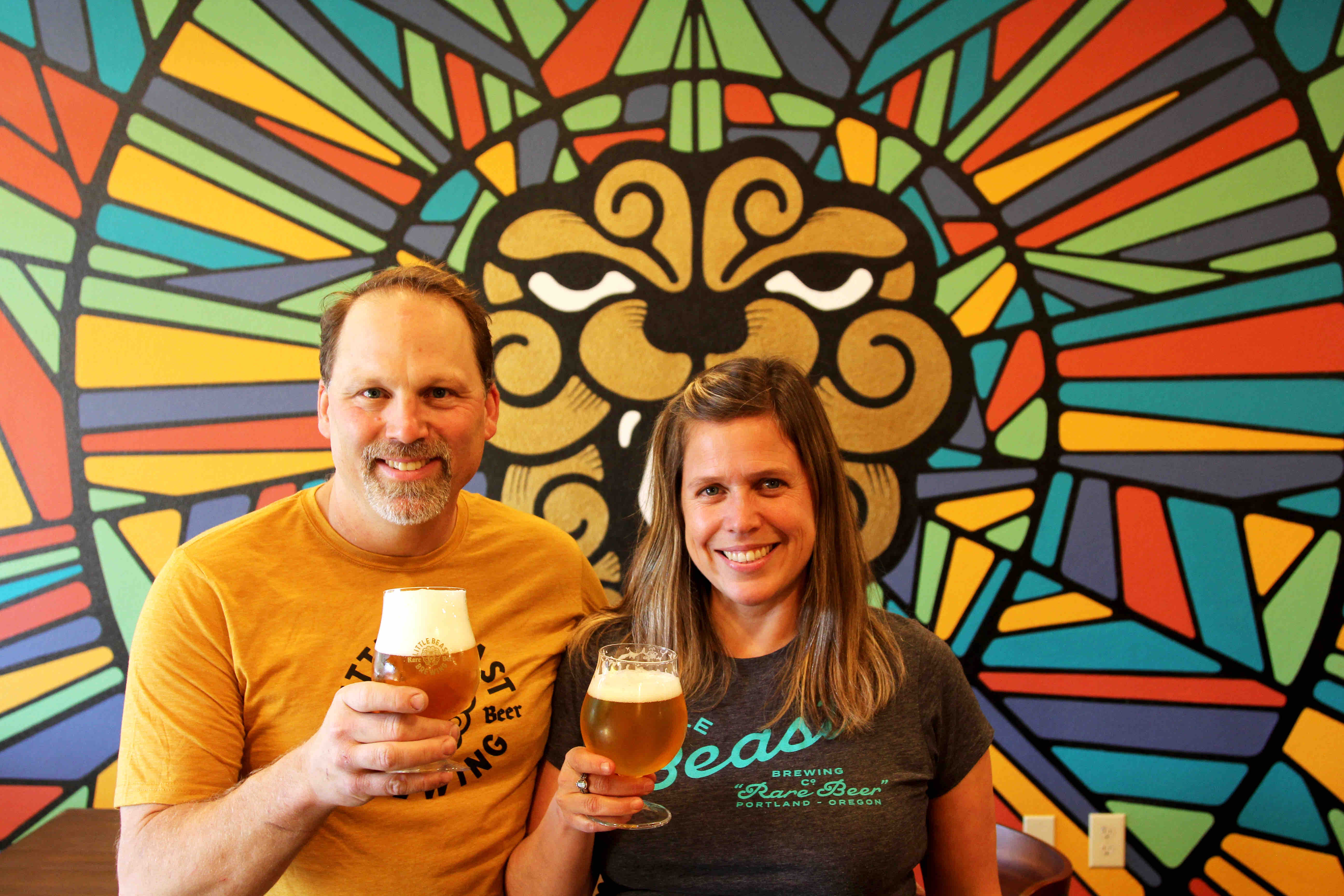 image of Charles Porter and Brenda Crow courtesy of Little Beast Brewing